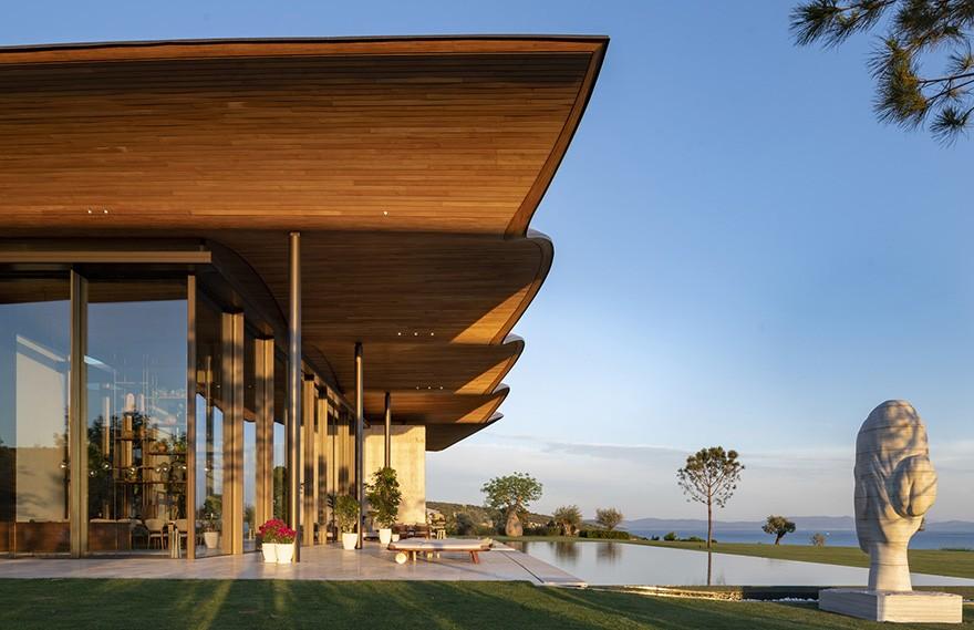 Foster + Partners | Dolunay Villa , 现代别致的海滨住宅
