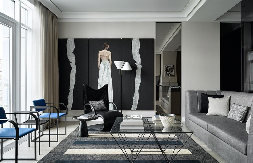 Natalia Belugina | Moscow Apartment , 黑白格调的艺术公寓