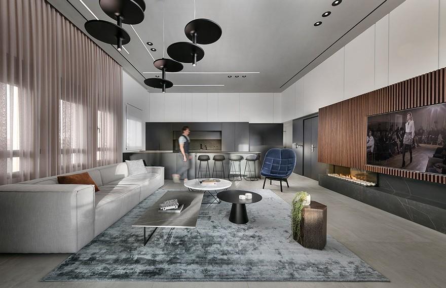 Erez Hyatt | Modiin顶层公寓 , 营造一种轻快的氛围