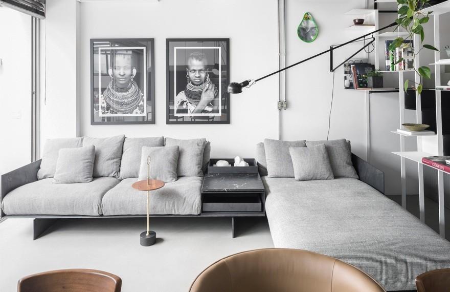 FlipeArchitecture | Unique Apartment , 充满活力的极简主义公寓