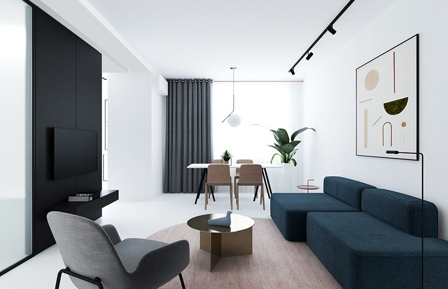 Lera Brumina | 72㎡ Apartment , 审美的灵活性和吸引力