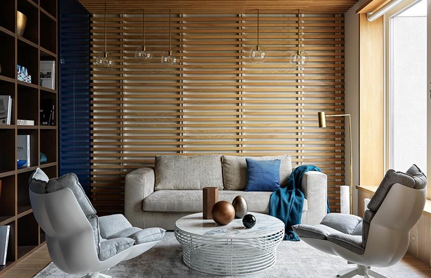 Sophia Shatokhina | Blue-toned Apartment , 明斯克蓝调公寓