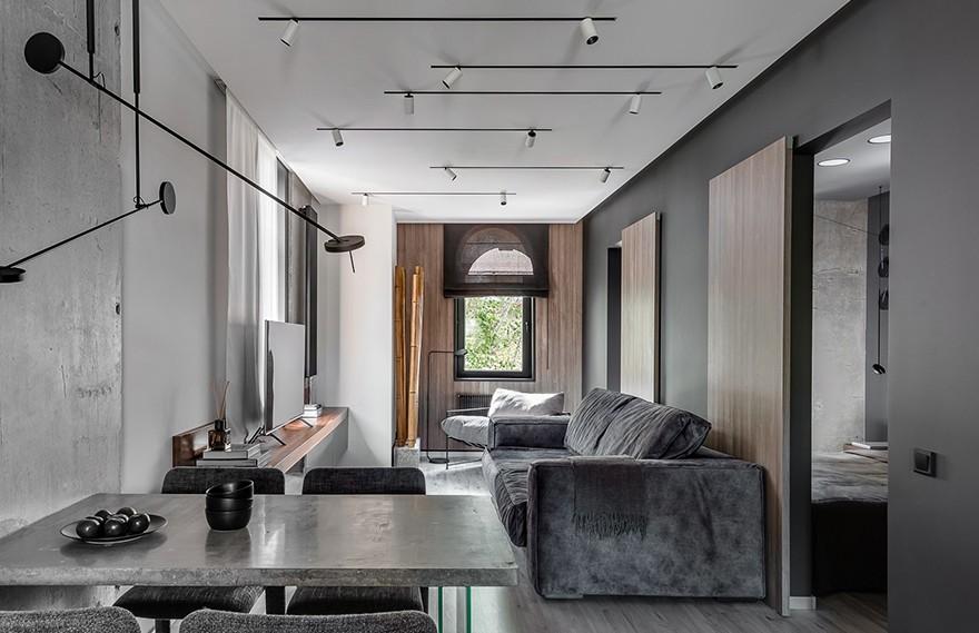 Quadrum Studio | DK CH Flat , 现代混泥土的功能住宅
