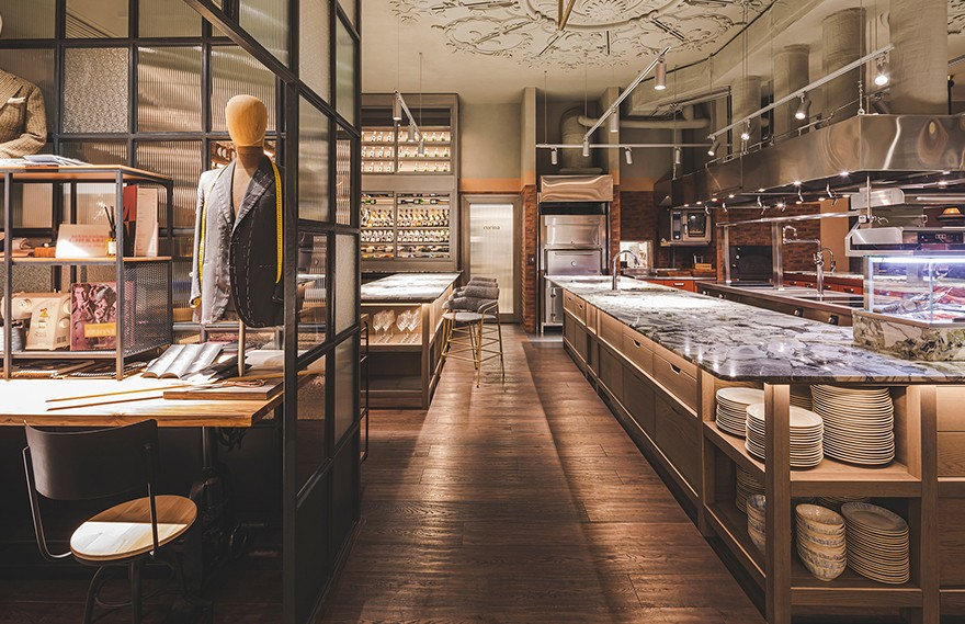 Yuna Megre | Sartoria Lamberti Restaurant , 独特时尚的裁缝餐厅