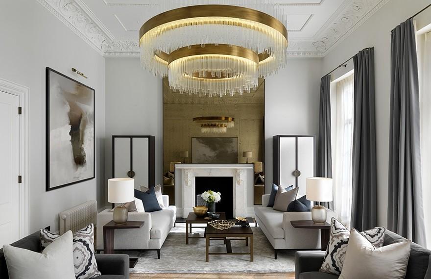 Laura Hammett | Belgravia复式公寓 , 轻奢英伦住宅
