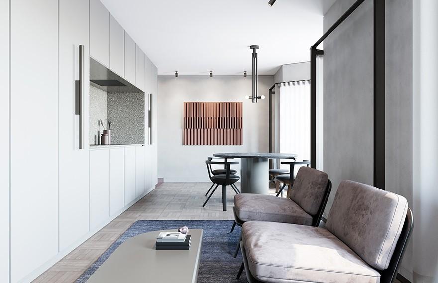 Lera Brumina   56㎡ Apartment , 极致优雅的高质感