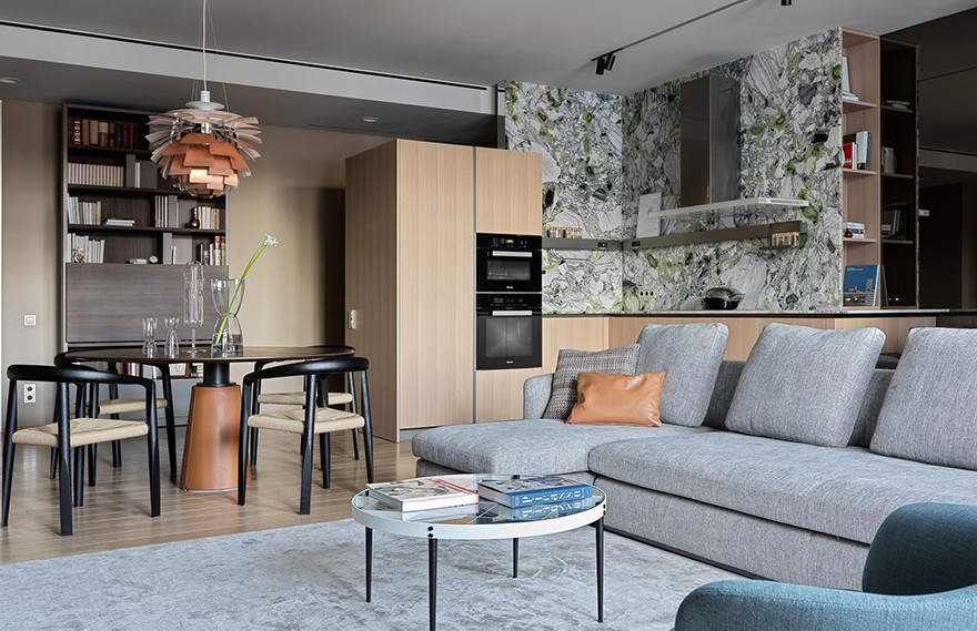 Anna Pufik | Yekaterinburg Apartment , 现代极简主义公寓