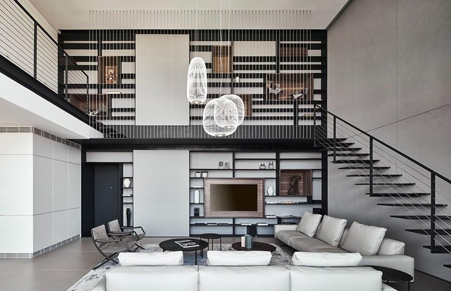 Pitsou Kedem | A duplex apartment , 高级简约的设计