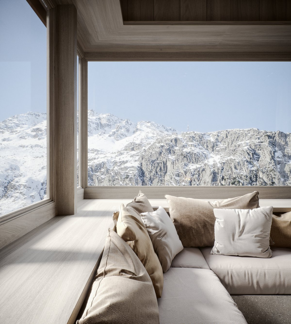 Haus Alma in Swiss Alps Designed By Render Vision