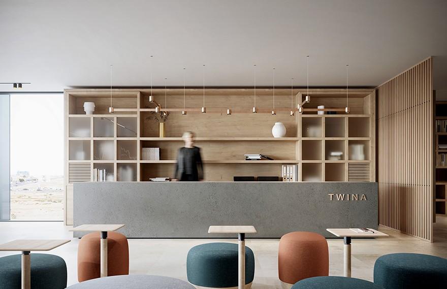 Blok Studio | Twina Office , 现代极简的办公环境