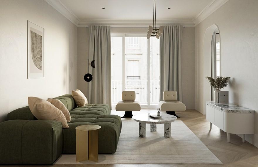 Amr Moussa | Grey Apartment , 纯粹的宁静空间