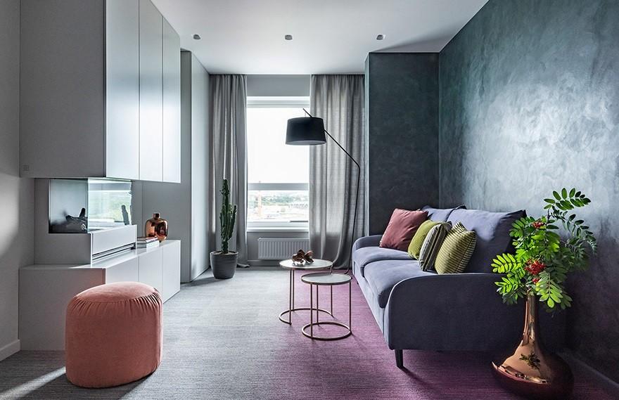 Gradiz Studio   Yekaterinburg Apartment , 传达了大自然神秘的力量