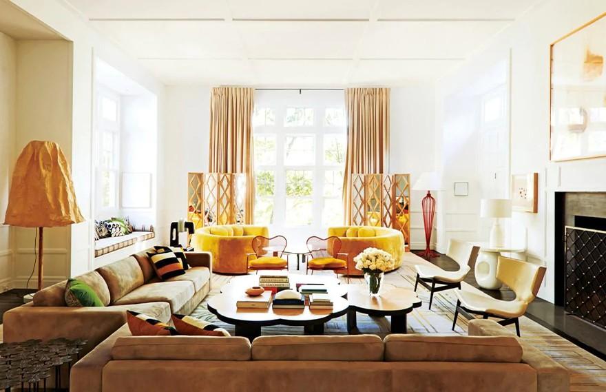 India Mahdavi | Country Estate,Neutral Bold Country House