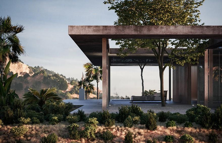 Marc Thorpe Design | Case Study House 2020 , 俯瞰城市的私人住宅