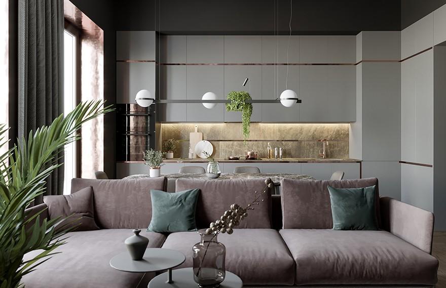 Evgeny Garchu | Moscow Dark Apartment