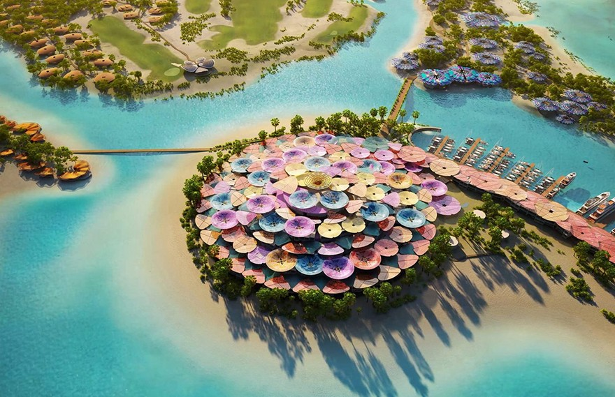 Foster+Partners | Coral Bloom Island Resort
