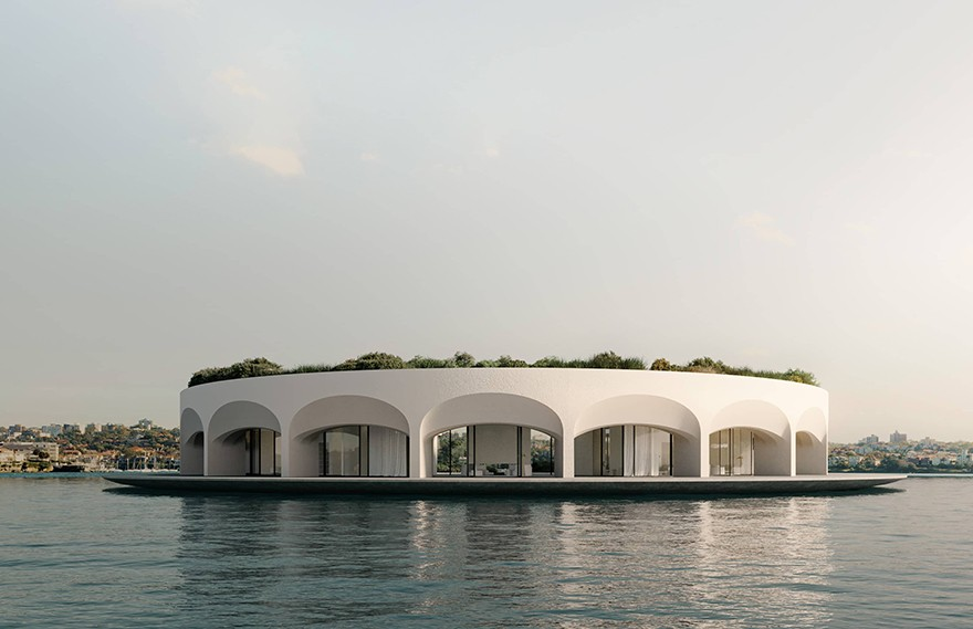 Mark Hunter | Ø House,A water lily floating on the island