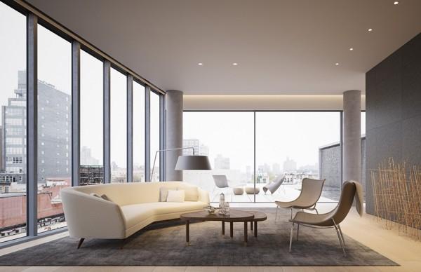 Gabellini Sheppard | 152 Elizabeth Penthouse , 极简气质顶层公寓