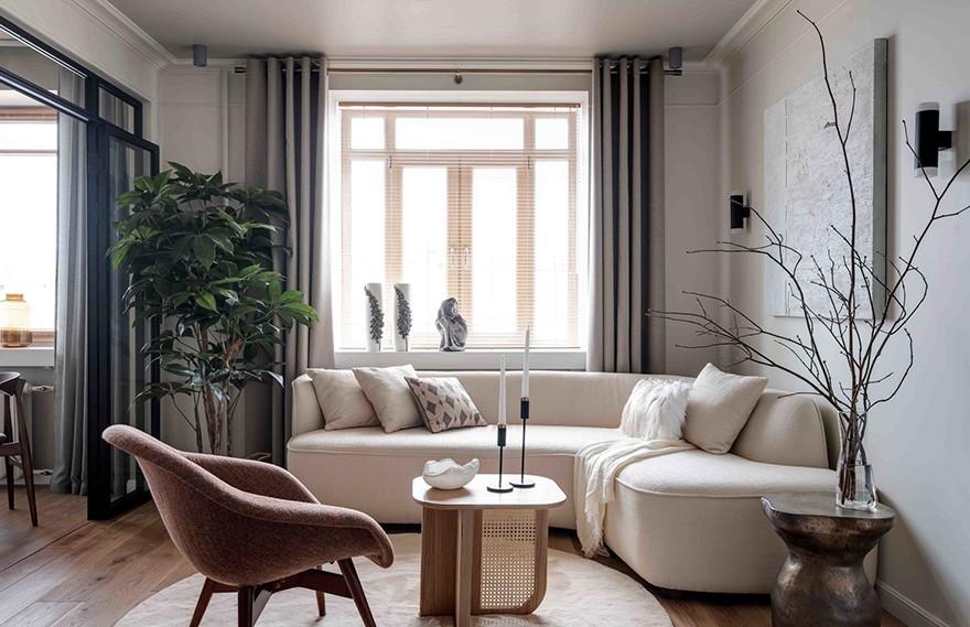 Anna Vasileva | Moscow Apartment , 莫斯科极简主义住宅