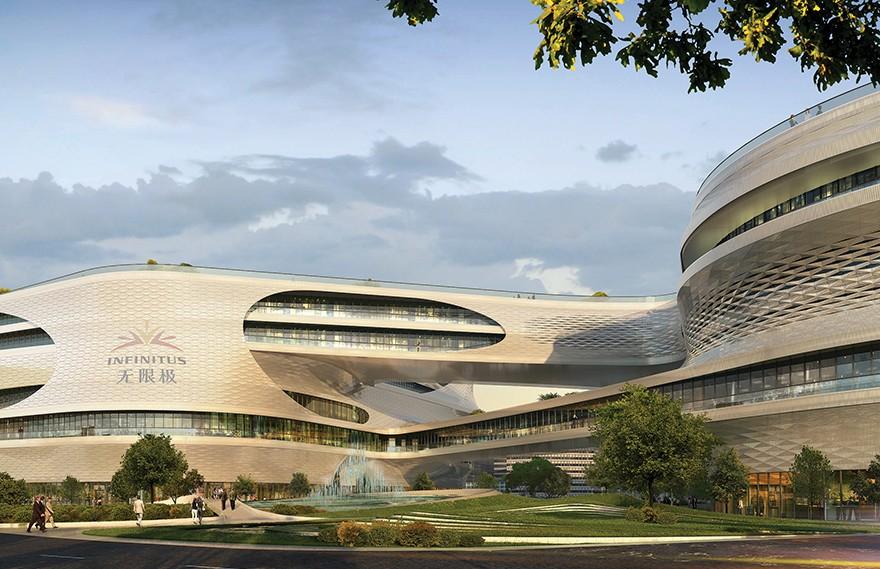 Zaha Hadid | 广州无限极广场 , 融合了智能技术的综合建筑