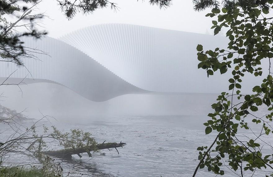 Bjarke Ingels | The Twist Museum , 漫步于河流上的艺术品